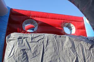 Aan sachterzijde van de Take Out stormbaan is een valdemping gemaakt. Ideaal gemaakt.