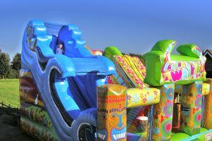 Luchtkussen Hawai Paradijs in actie!