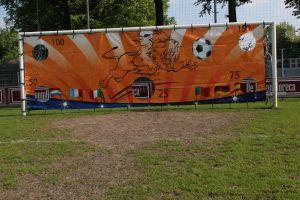 Doelkleed met het doel om het voetbalspel te spellen met zoveel mogelijk punten te schieten.