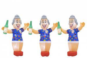 Met deze opblaasbaar pop Sarah kunt u in de woonkamer, slaapkamer of huiskamer  gezelligheid brengen.