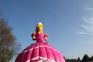 Springkussen Barbie heeft een prachtige rose uitstraling.