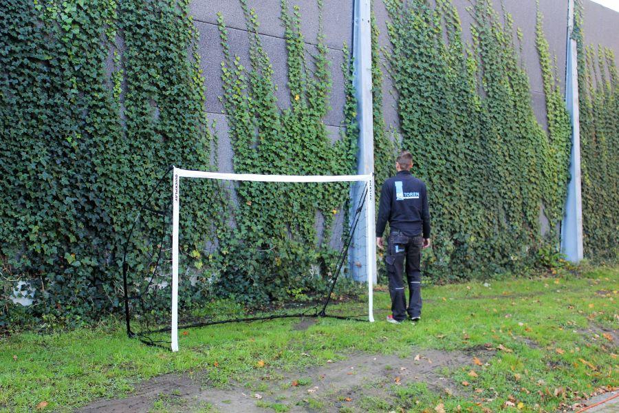 Bumpervoetbal goals zijn veilig door flex stangen.