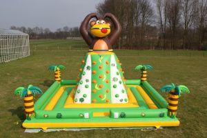 Luchtkussen Klimtoren-aap in actie!