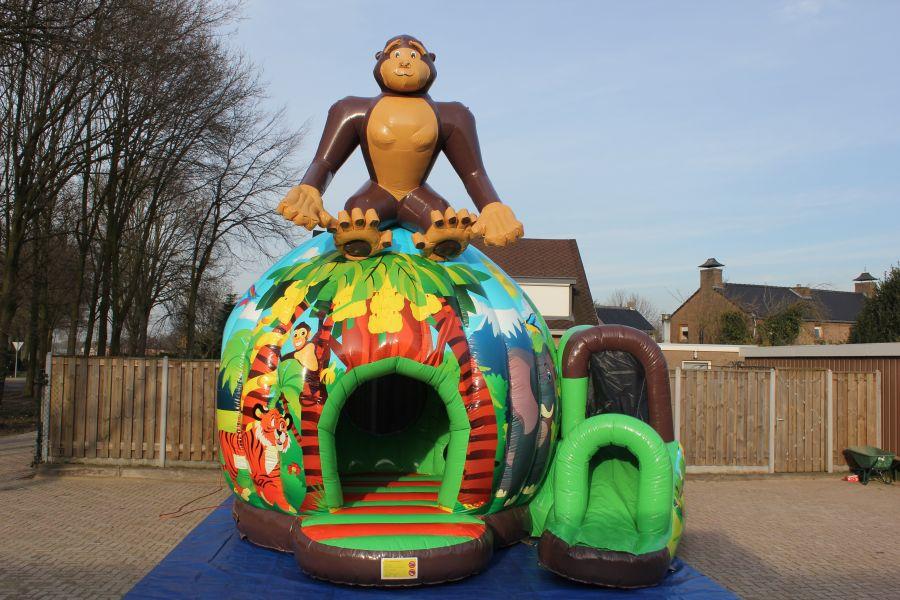 Springkussen Monkey;vooral geschikt voor dierendag of met een thema King Kong.
