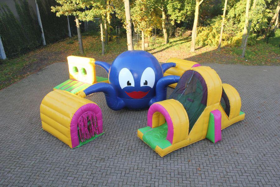 Luchtkussen Kleuter octopus is een kinder luchtkussen met 5 verschillende onderdelen, ideaal voor u evenement