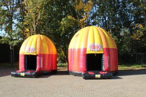 Disco springkussen  4 of 5 meter? Zie het verschil !
