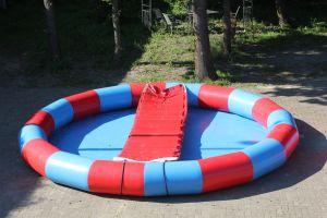 Waterbad / Speelveld 5 meter rond word ingezet op wateractiviteiten.