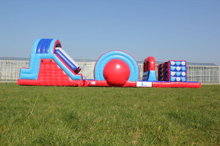 Roll Off stormbaan; zeer geschikt voor zeskamp en andere sport en spel activiteiten.
