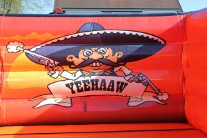 Springkussen western voor kinderfeestje of ieder ander event, goedkoopste van de Nederland
