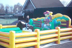 Deze Rodeo stier is voor kinderen en ook voor volwassenen.