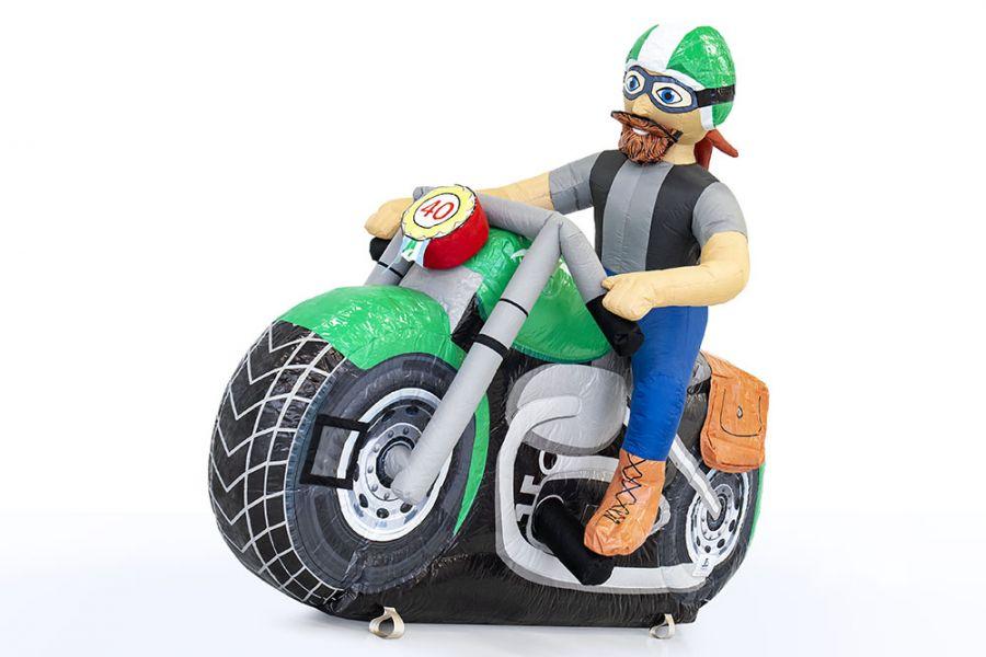 Deze stoere motor is opblaasbaar als feestpop en nu te huur bij Attractieverhuur De Toren